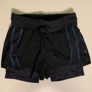 Black 2XU running shorts with compression liner